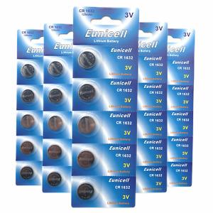 Batteries CR2032 CR2016 CR1220 CR1620 CR2025 CR1616 CR2450 CR1632 Eunicell UK