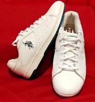 Women's Vintage U.S. Polo Assn. USPA Leather Sneakers Sz 10 Bailey - White