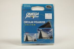 Omega Pro-View 67mm Circular Polarizer Filter  FREE SHIPPING NEW IN BOX FREE