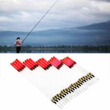 20PCS CLEAR WAGGLER FISHING FLOATS FLOATING TUBES STEM KITS TACKLE SMART (L49)