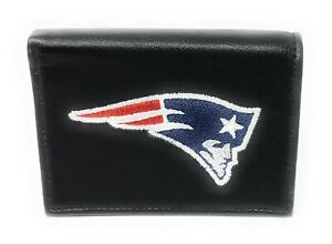 NFL New England Patriots Embroidered Leather Billfold Wallet