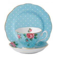 Royal Albert Polka Blue 3Pc Tea Setting, Set of 4