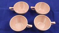 Vintage Mid Century Mar Crest Melmac Tan Coffee / Tea Cups / Set of 4