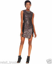 Rachel Rachel Roy Sleeveless Metallic-Print Dress, SZ8