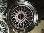 "NEW BBS Wheels set of (4) 18"" Silver w/Chrome Lip replica"