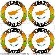 """CYPRUS Cypriot Cyprian Vinyl Bumper-Helmet Decals-Stickers 2"""" (50mm) x4"""