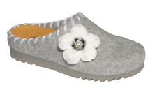 Scholl Lulli Felt Slip-On Mules Slippers Clogs in Grey Various Sizes