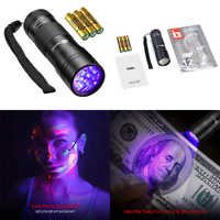 BLACK Light UV Blacklight Flashlights 12 Leds 395Nm 3 Fre Small
