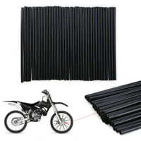 72pcs Black Wheel Spoke Skin Cover Wrap Kit for Motorcycle Motocross Dirt Bike