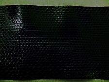 PEAU DE SERPENT  TANNEE couleur noir- Cuir exotique -