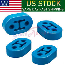 Car Polyurethane Rubber Exhaust Tail Pipe Mount Bracket Hanger Insulator Blue(4)