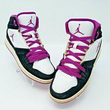Nike Air Jordan Flight 1 Black/White/Purple Basketball Shoes 6Y 371389-051