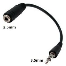 3.5mm Male Jack To 2.5mm Female Audio Headphone Adapter Cables Lead Stereo UK