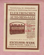 LEIPZIG, Werbung 1932, Excelsior-Werk R Kiesewetter, Elektrischen Auto-Mess-Satz