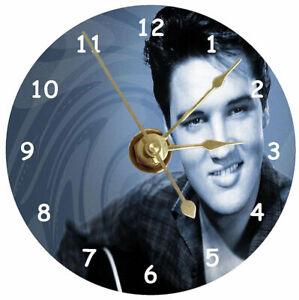 Elvis Presley gift cd clock Matt finish non ticking silent Quartz & free stand