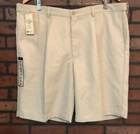 Haggar Cool 18 Pleated Performance Shorts Men's Size 40 NWT