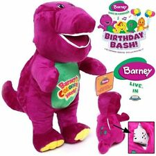 1PC 26CM SINGING BARNEY THE DINOSAUR SOFT BEAR DOLL PLUSH KIDS BABY TALKING TOY