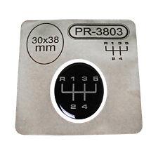 1x Schalthebel Silikon Aufkleber für Schaltknauf 3D Sticker | 30x38mm | PR-3803