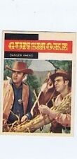 Topps 1958 Western TV Card #8, Gunsmoke, Danger Ahead, vintage non-sports card