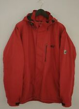 Men Jack Wolfskin Jacket Breathable Windproof Zippered Hooded Red 2XL Z325