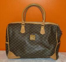 Très joli grand sac vintage MARCO en toile monogrammée et cuir porté main A4