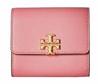 Tory Burch KIRA FOLDABLE MEDIUM Leather WALLET ~NWT~ Pink