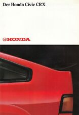 HONDA CRX CIVIC COUPE Youngtimer 1.5 12V Prospekt Brochure 1985 62