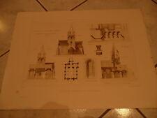 dessin planche eglise de guarbecques archives monuments historiques beaux arts