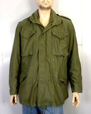 vtg 70s Us Army Vietnam 1973 M-65 Cold Weather Coat Field Jacket Stenciled M lng