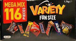 New Mars Giant Variety Jumbo Pack 116 Pieces 1.7kg Box Chocolates AUS MADE