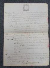 ANTIGUO DOCUMENTO  2 PAGINAS 1865 PARROQUIA DE SAN PEDRO ABAD  LORANCA DE TAJUNA