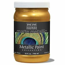 Modern Masters Mm659 Matte Metallic Paint, Olympic Gold, Quart