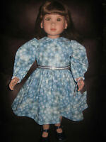 """Blue Christmas/Winter Dress with Snowflakes and Glitter -Fits 23"""" My Twinn  Doll"""