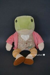 THE BEATRIX POTTER COLLECTION JEREMY FISHER FROG PLUSH BY EDEN