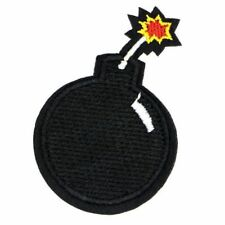 BOMB PATCH EMBROIDERED BOMB PATCH LIT FUSE PATCH EXPLODING BOMB (SB-360)