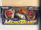 Micro Blast Racers Remote Control Cars Deluxe Race & Chase Set Of 2 Cars New