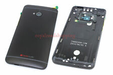 Black Replacement Battery Back Door Housing Button Cover for HTC One M7 801e