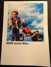 """1996 BMW MOTORCYCLE JUNIOR BIKE SALES BROCHURE  6"""" X 8"""" 4 PAGES.  (433)"""