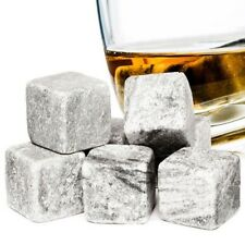 Whiskey Pierres Réutilisable Glaçons 9pc Granite Drinking pierres pochette en velours