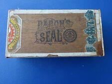 Vintage Baron's Seal Cigar Box, 1865 Copyright, Md, T.H. Hinchman, Balimore