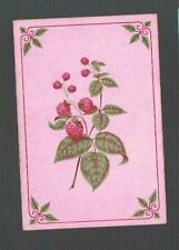Playing  Cards 1 ANTIQUE SQ CNR  SPRAY OF BERRIES & CORNER  DETAIL 1800'S SQ20
