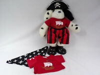 Vintage Build A Bear Dalmation in Pirates Outfit Shoes Hat Extra Shirt & Scarf