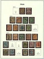 Italy 1890/01 range of numeral and portrait definitive issues with '90 s Stamps