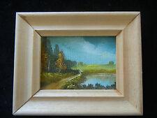 Ölbild mit Holzrahmen, handgemalt, Landschaftsbild (meine Pos-Nr. 02)