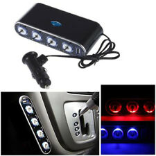 Car Cigarette Lighter Splitter 4 Way Multi Socket USB Charger Adapter DC 12V/24V
