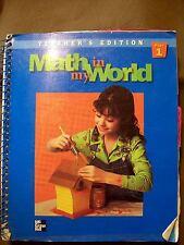 McGraw-Hill Math in My World Part 1 and 2 Grade 4 Teacher's Ed. (1998, Spirals)