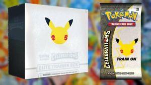 Pokemon 25th Anniversary Celebrations Elite Trainer Box PREORDER 10/08 Release