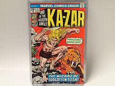LORD of the HIDDEN JUNGLE KA-ZAR #12 Marvel Comics 1975 FN/VF Zabu, Savage Land