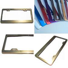Powder Coated Gold Chrome Stainless Steel License Plate Frame Bracket Holder New