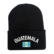 New National Guatemala Flag Beanie Hat Cap Embroidered Stitched